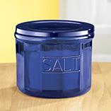 Kitchen - Cobalt Blue Depression Style Glass Salt Cellar