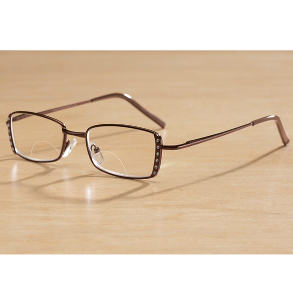 Computer Bifocal Glasses Women's Brown
