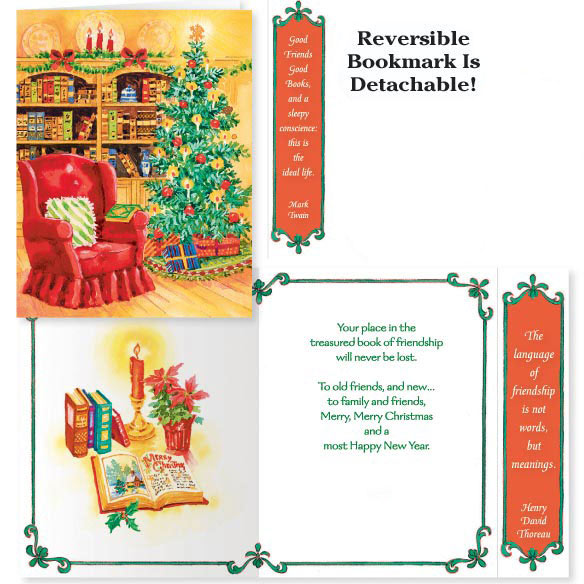 Book of Friendship Christmas Card Set of 20