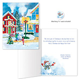 Nature Inspired - American Snowman Christmas Card Set of 20