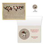 Nature Inspired - Seashell Garland Christmas Card Set of 20