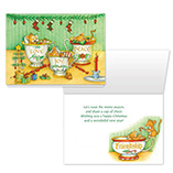 Nature Inspired - Christmas Mice Christmas Card Set of 20