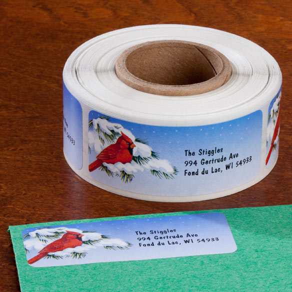 Snowy Cardinal Labels and Seals