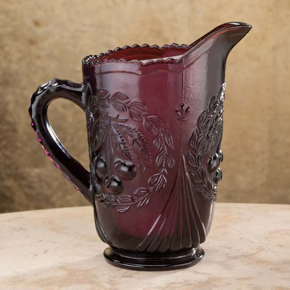 Amethyst Pitcher and Juice Glasses