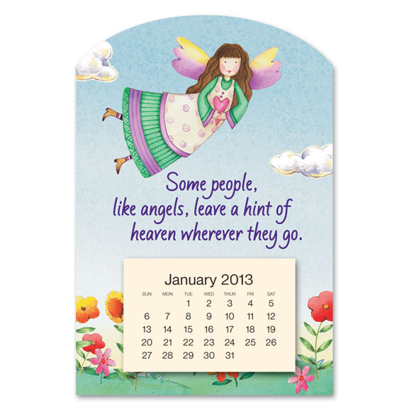 Mini Magnetic Angel Calendar