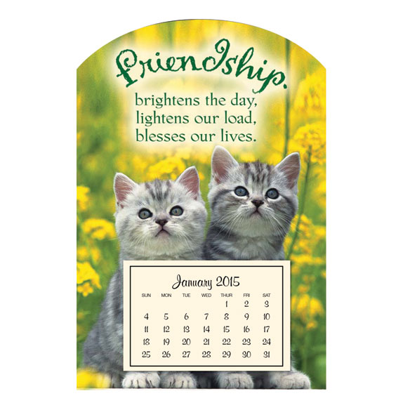 Mini Magnetic Kitten Calendar