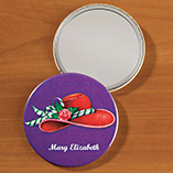 Personalized Red Hat Pocket Mirror