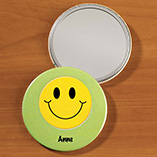 Personalized Smiley Face Pocket Mirror