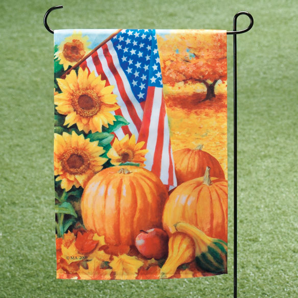 American Fall Garden Flag - View 1