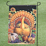 Harvest Turkey Garden Flag