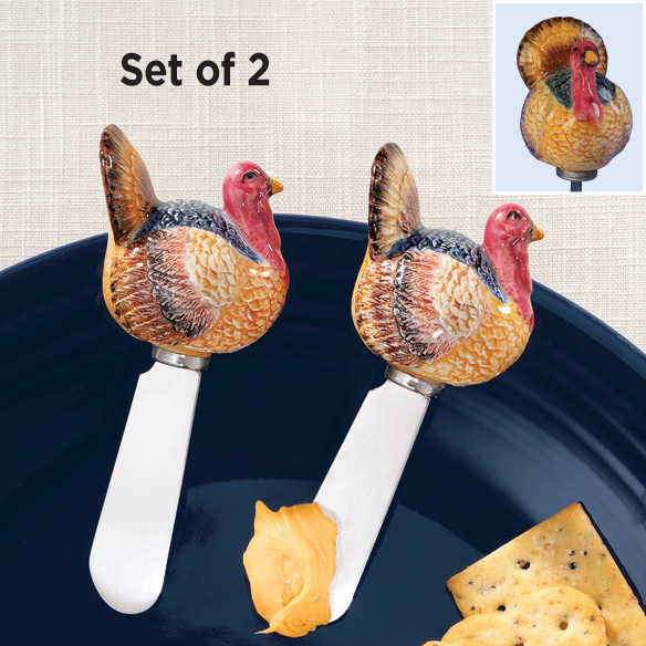 Ceramic Turkey Spreaders Set of 2