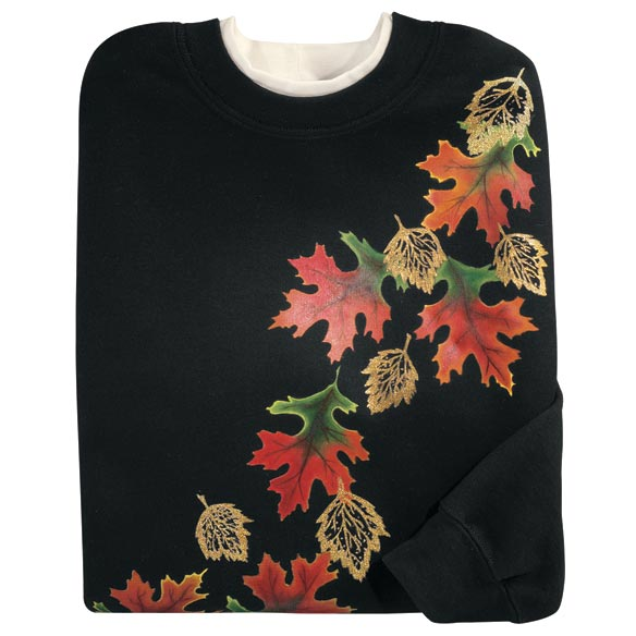 Golden Fall Leaves Sweatshirt