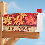 Tossed Leaves Garden Flag & Mailbox Cover