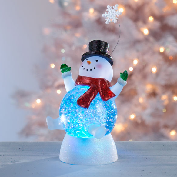 Glitter Snowman with Snowflake - View 1