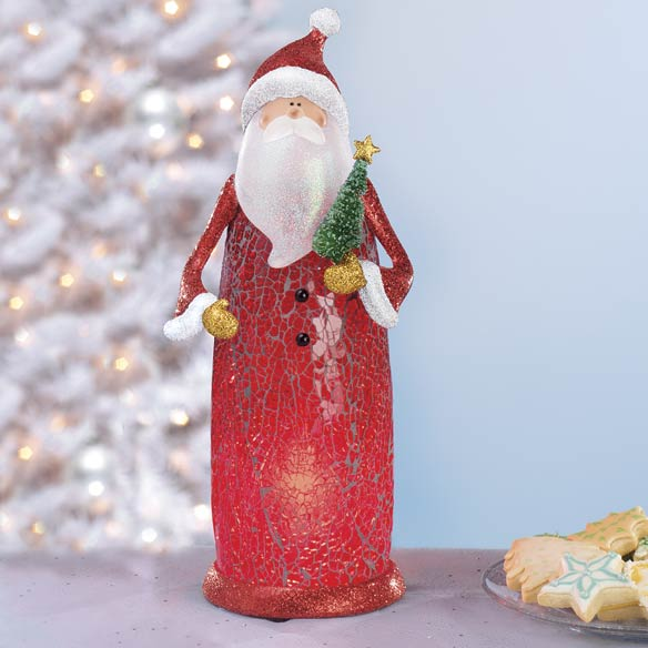 Crackle Glass Santa - View 1