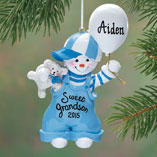 Ornaments - Personalized Sweet Grandson Ornament