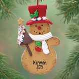 Ornaments - Personalized Snowman Cookie Ornament