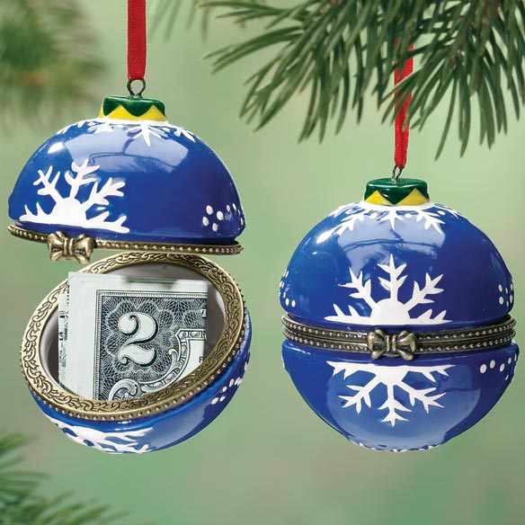 Snowflake Trinket Box Ornament