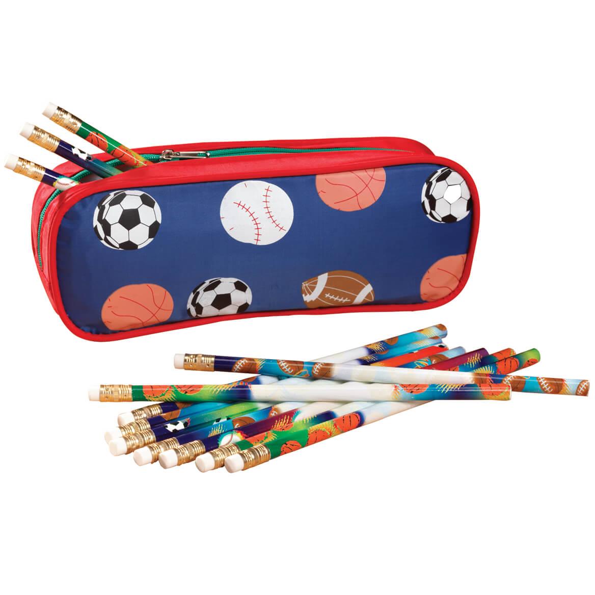 Personalized Sports Pencil Case Set-339093