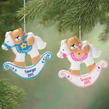 Milestones - Personalized Baby's First Christmas Rocking Horse Ornament