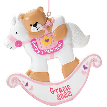 d3ea5a1cca1 Personalized Baby s First Christmas Rocking Horse Ornament-339116 ...
