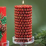 Home Décor - Red Berry 3 x 6 Pillar