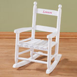 Personalized - Personalized Childs White Rocker