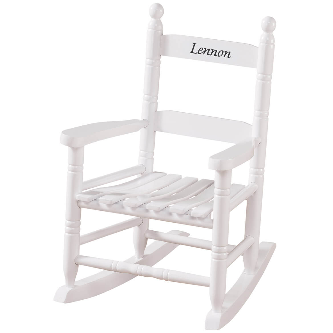 Personalized Childs White Rocker