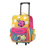 Children's Products - Personalized Ladybug Rolling Luggage