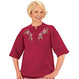 Everyday Sweatshirts - Tea Roses Short Sleeve Sweatshirt Small