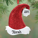 Ornaments - Personalized Santa Hat Ornament