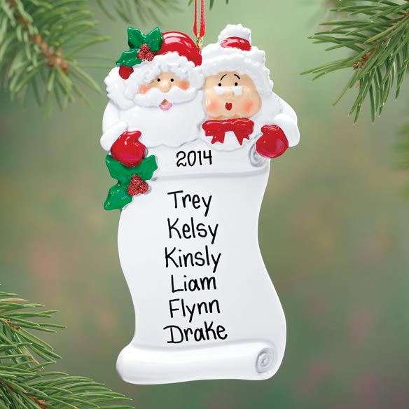 Personalized Santa's Nice List Ornament