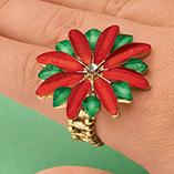 Accessories - Poinsettia Ring
