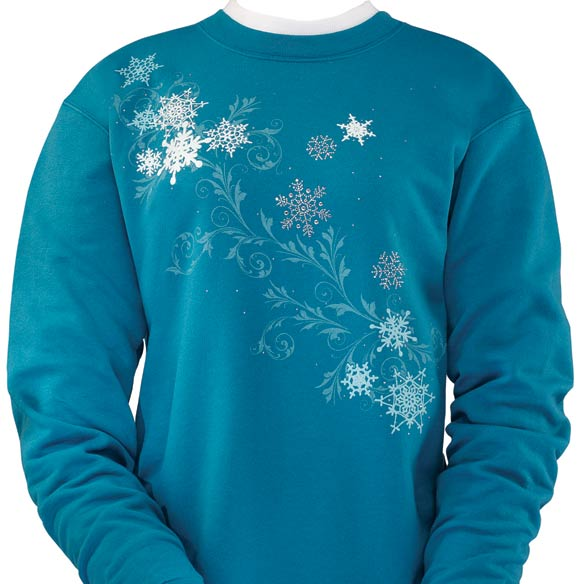 Snowflakes Scroll Sweatshirt