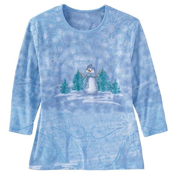 Happy Snowman 3/4 Sleeve Shirt