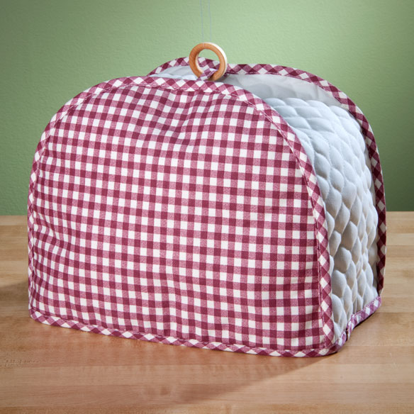gingham appliance cover 2 slice toaster kitchen miles kimball. Black Bedroom Furniture Sets. Home Design Ideas