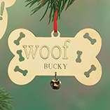 Ornaments - Personalized Woof Brass Ornament