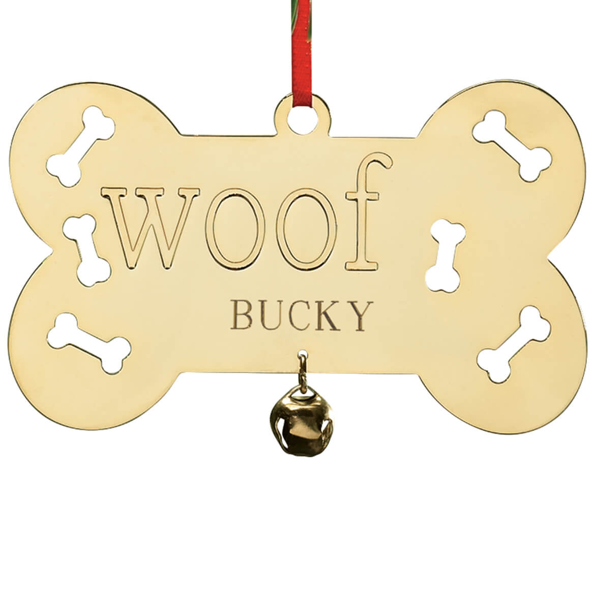 Personalized Woof Brass Ornament-339449