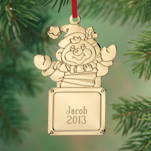 Personalized Jack in the Box Brass Ornament