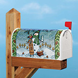 Snowball Season Garden Flag & Mailbox Cover