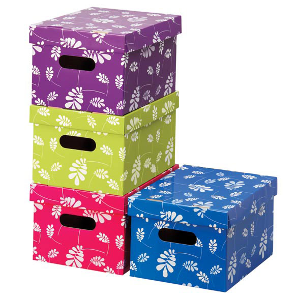 Floral Organizer Boxes Set of 4