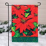 Christmas & Holidays - Holiday Poinsettia Garden Flag