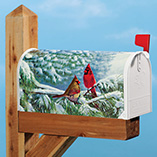 Winter Cardinals Garden Flag & Mailbox Cover