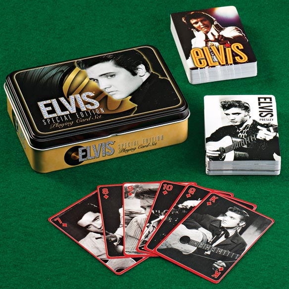 Elvis Gold Playing Card Tin Set