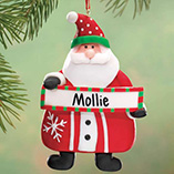 Personalized Santa with Sign Ornament