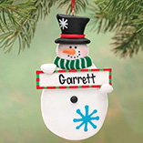 Personalized Snowman with Sign Ornament