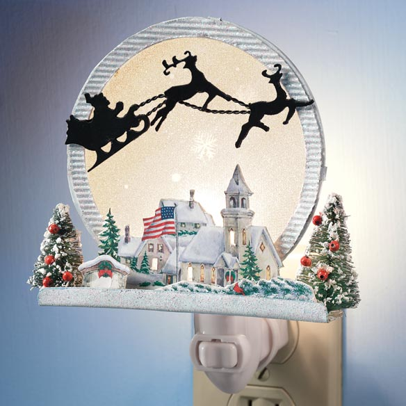 American Christmas Night Light