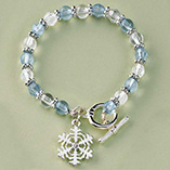 Santa Letters & Childrens Gifts - Snowflake Charm Bracelet