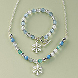Santa Letters & Childrens Gifts - Snowflake Charm Jewelry Set