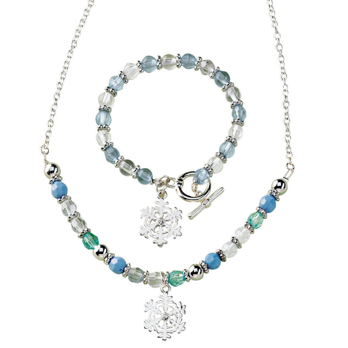 Snowflake Charm Jewelry Set